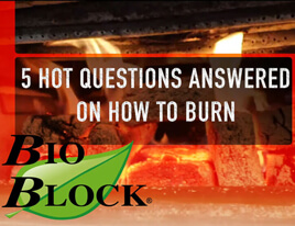 How to Burn BIO BLOCK Firewood